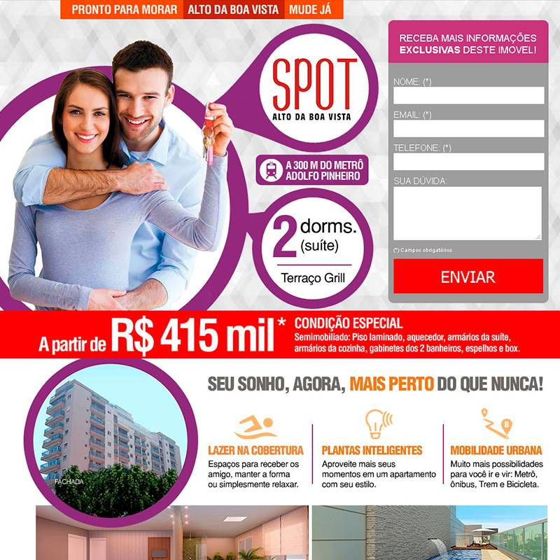 Landpage do Spot Alto da Boa Vista